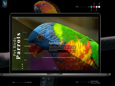 Web Design concept of Pet Shop