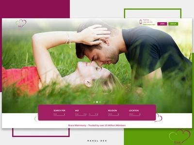 Web Design concept for Wedding Matrimony (Brace Matrimony )