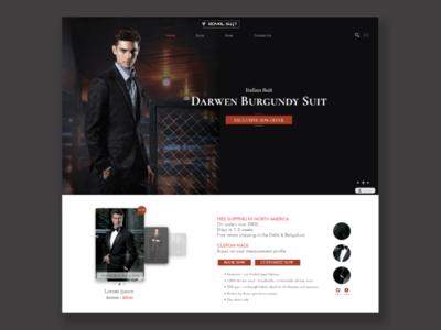 Concept for Royal Suit website