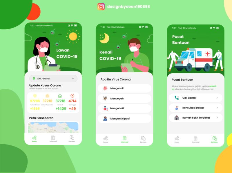 COVID 19 App Design figmadesign android app development android app design designs design app color uiuxdesign webdesign app design ux ui minimal design mobile ui mobile design app covid 19 covid-19 covid covid19