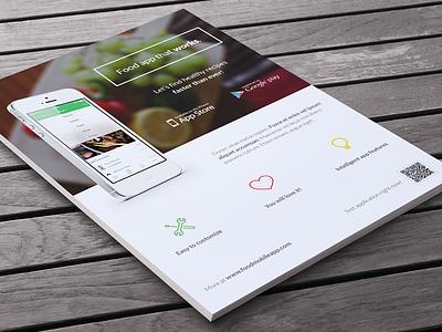 Sneak peek of upcoming flyer #2 minimal iphone print indesign ad icon flat phone smartphone flyer app mobile