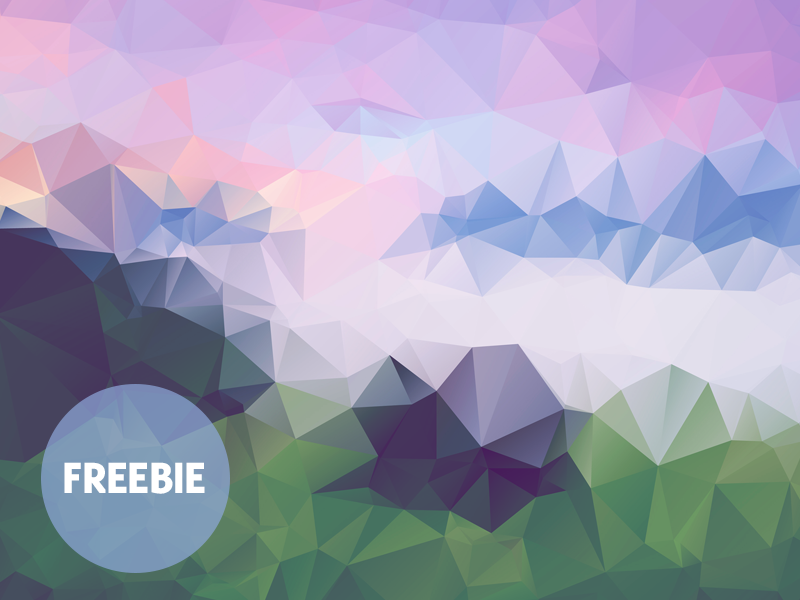 Free Polygonal / Low Poly Background Texture free freebie low poly polygonal flat background texture abstract geometric shape triangle