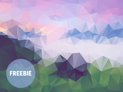 Free Polygonal / Low Poly Background Texture