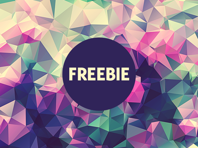 Free Polygonal / Low Poly Background Texture #3 free freebie low poly polygonal flat background texture abstract geometric shape triangle