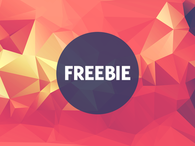 Free Polygonal / Low Poly Background Texture #14 free freebie low poly polygonal flat background texture abstract geometric shape triangle