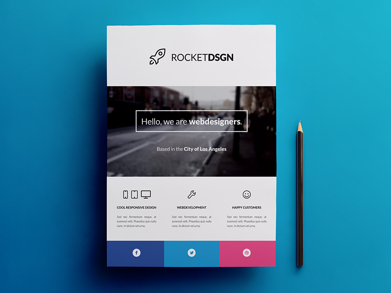 Business Corporate Modern Flyer Template By Rounded Hexagon Dribbble