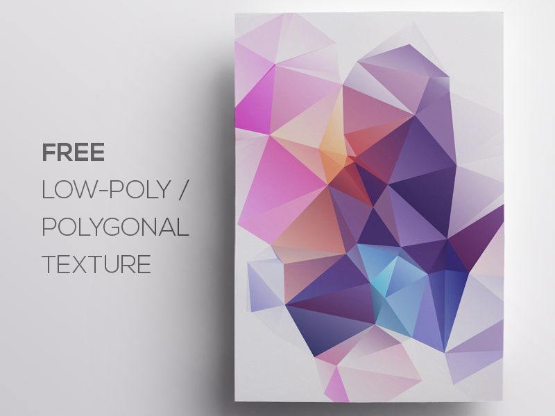 Free Polygonal / Low Poly Background Texture #75 free freebie low poly polygonal flat background texture abstract geometric shape triangle