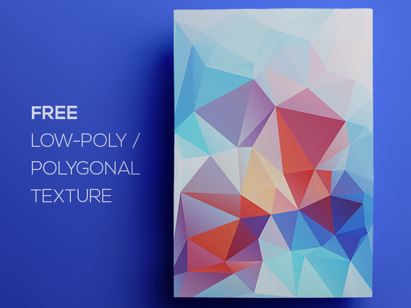 Free Polygonal / Low Poly Background Texture #80 triangle shape geometric abstract texture background flat polygonal poly low freebie free