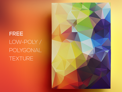 Free Polygonal / Low Poly Background Texture #82 triangle shape geometric abstract texture background flat polygonal poly low freebie free