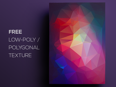 Free Polygonal / Low Poly Background Texture #87 free freebie low poly polygonal flat background texture abstract geometric shape triangle