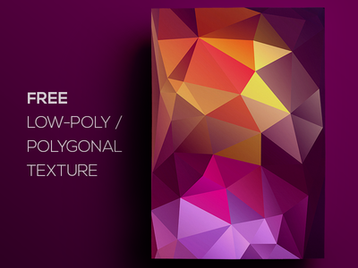 Free Polygonal / Low Poly Background Texture #90 triangle shape geometric abstract texture background flat polygonal poly low freebie free