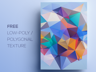 Free Polygonal / Low Poly Background Texture #96 triangle shape geometric abstract texture background flat polygonal poly low freebie free