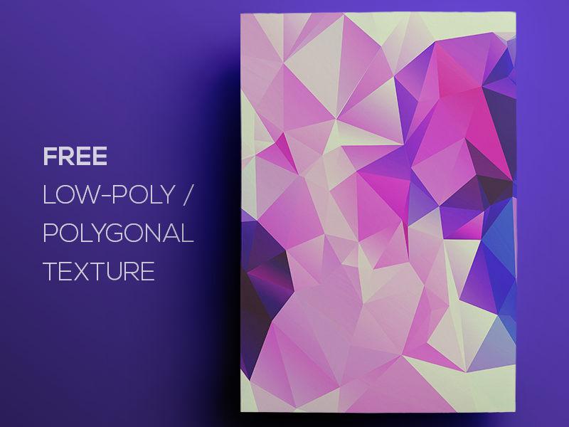 Free Polygonal / Low Poly Background Texture #101