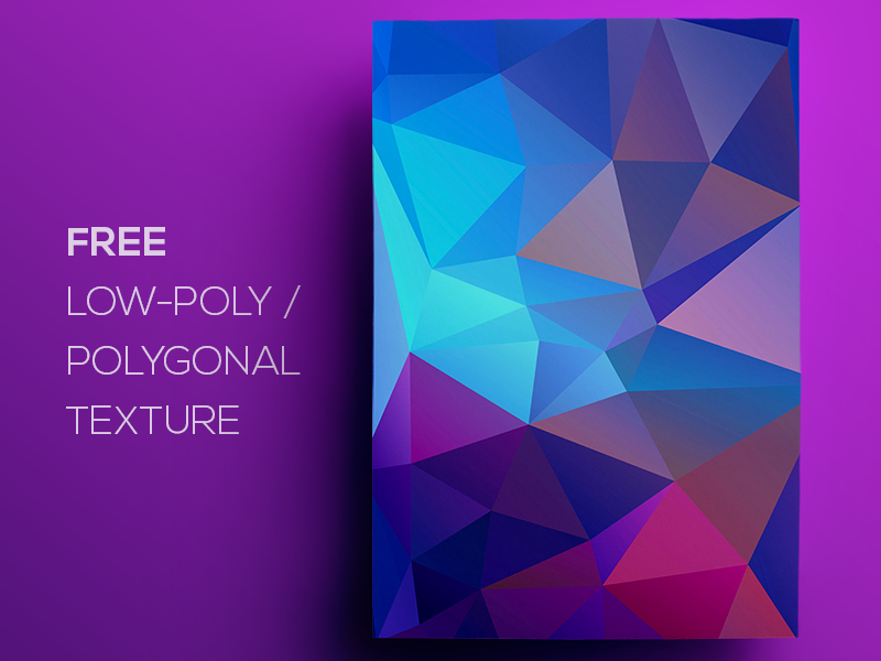 Free Polygonal / Low Poly Background Texture #103