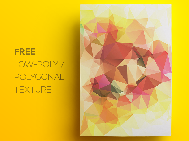 Free Polygonal / Low Poly Background Texture #104