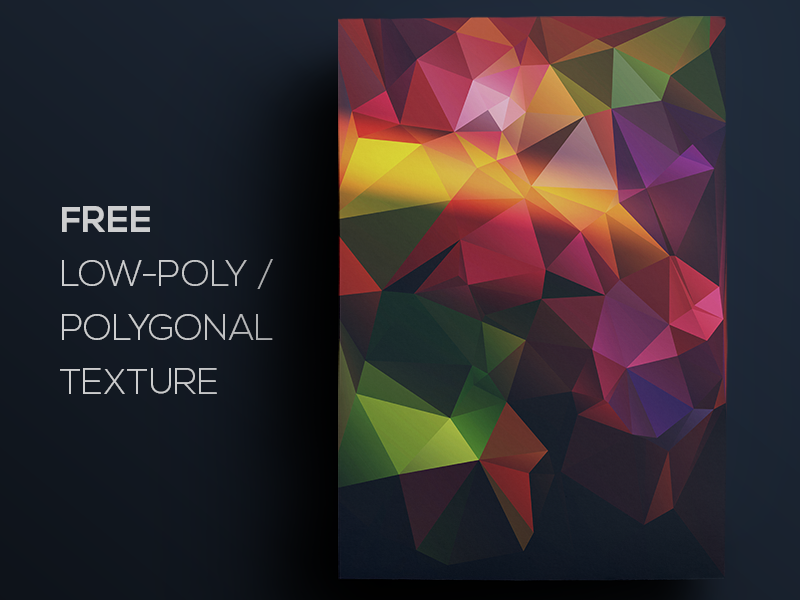 Free Polygonal / Low Poly Background Texture #105
