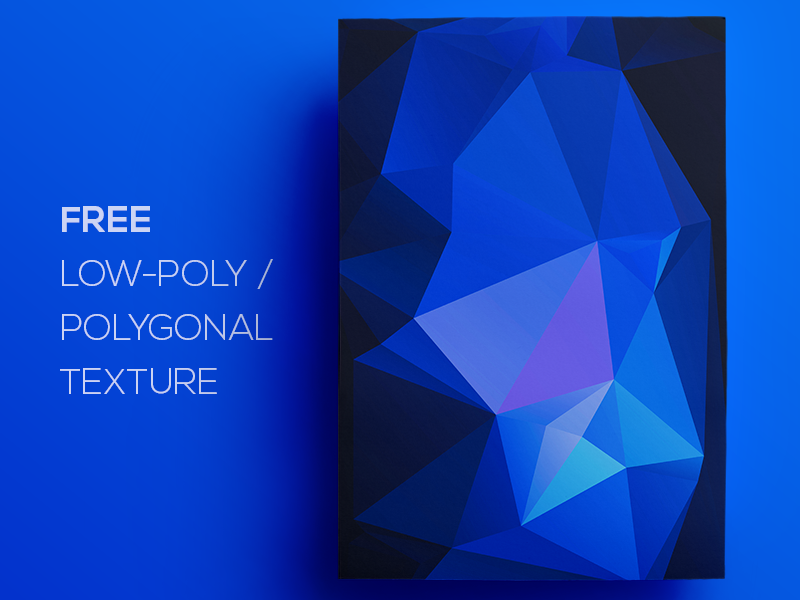 Free Polygonal / Low Poly Background Texture #107