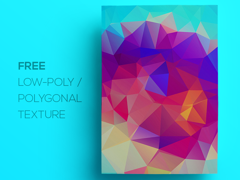 Free Polygonal / Low Poly Background Texture #108
