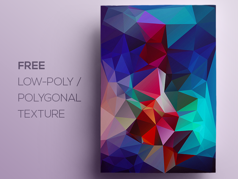 Free Polygonal / Low Poly Background Texture #109