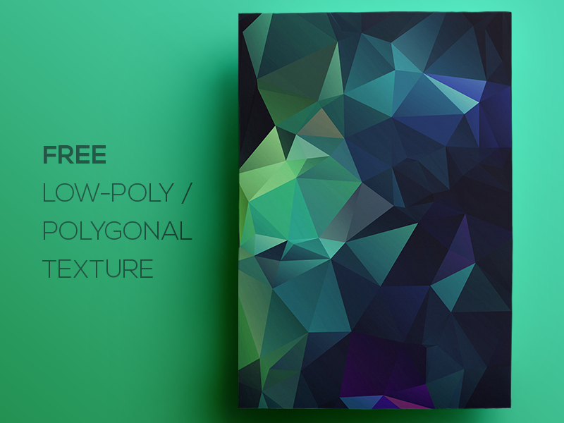 Free Polygonal / Low Poly Background Texture #111