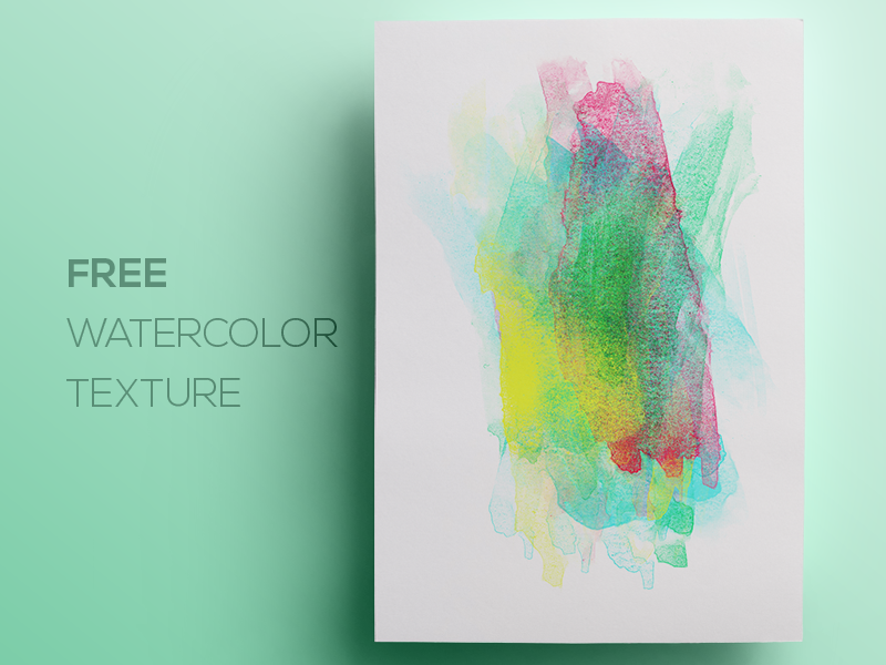 Free Watercolor Paint Background Texture 1 by Rounded Hexagon