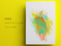 Free Watercolor / Paint Background Texture #2