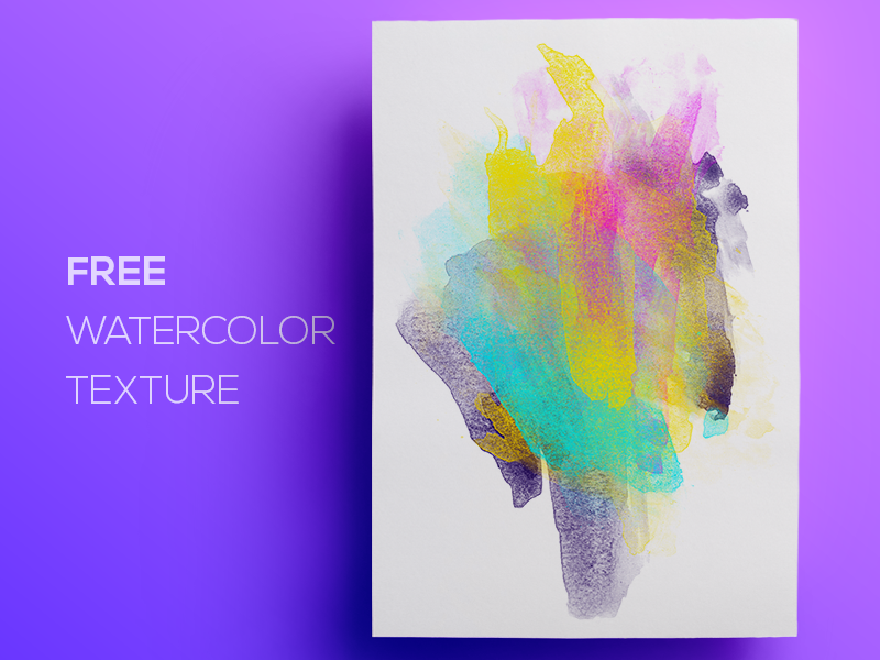 Free Watercolor / Paint Background Texture #3