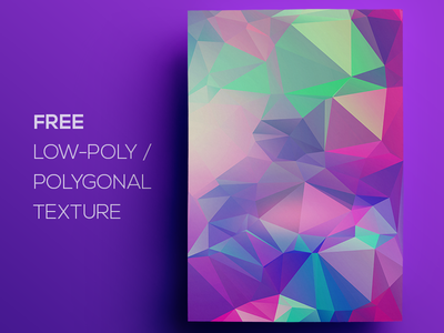 Free Polygonal / Low Poly Background Texture #115 free freebie low poly polygonal flat background texture abstract geometric shape triangle