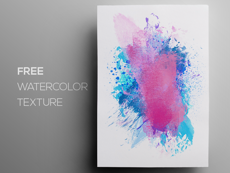 Free Watercolor / Paint Background Texture #6