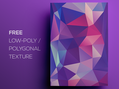 Free Polygonal / Low Poly Background Texture #118 triangle shape geometric abstract texture background flat polygonal poly low freebie free