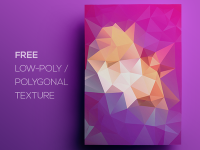 Free Polygonal / Low Poly Background Texture #122
