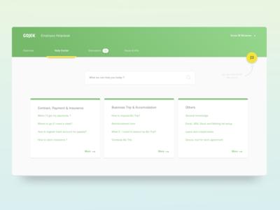 Material Design - Helpdesk Dashboard flat gojek material design web helpdesk