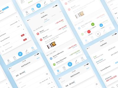 Saaku ios10 dashboard tracker spending money flat ios finance