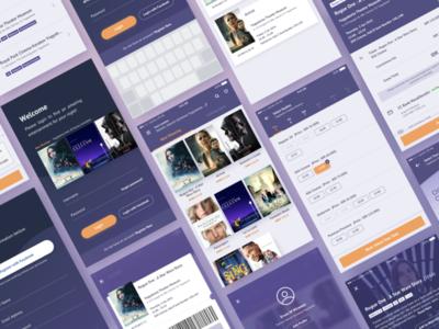 Movie Booking Ticket App Details Screen user interface user experience case studies ux ui design flat ios cinema movie