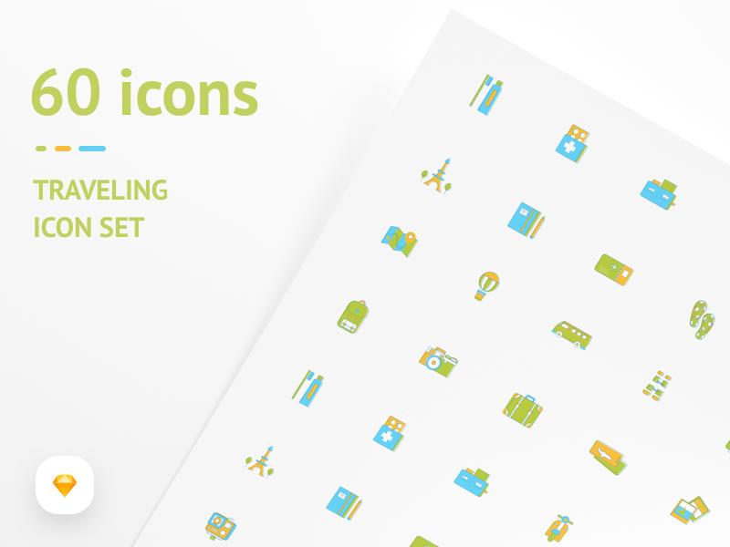 Travel Icon Set - FREEBIES sketch free icon download freebies travel icon icons