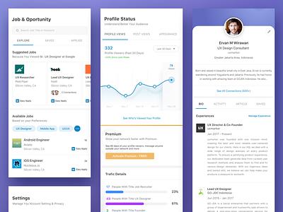 Linkedin Redesign redesign flat ios jobs social linkedin