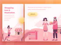 Freebies Shopping Illustration