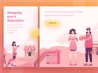 Freebies Shopping Illustration