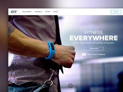 iFit ifit web design website flat landing page fitness wearable