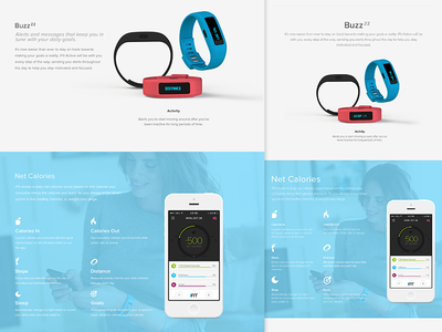 iFit ifit landing page web design iphone app website responsive device wearable fitness health