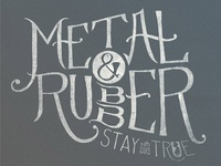 Metal & Rubber T-Shirt Concept