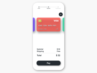 UI Daily 002 - Credit Card Checkout