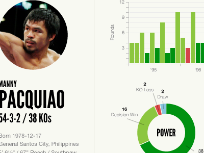 Boxing profile concept boxing stats charts