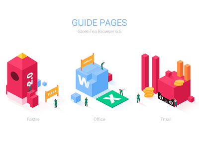 Guide Pages rockets isometric vector illustrations tmall office faster pages guide