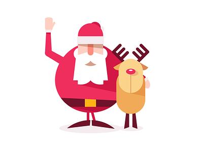 Merry Christmas illustration merry claus santa reindeer christmas