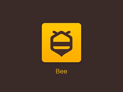 Bee yellow logo icon bee
