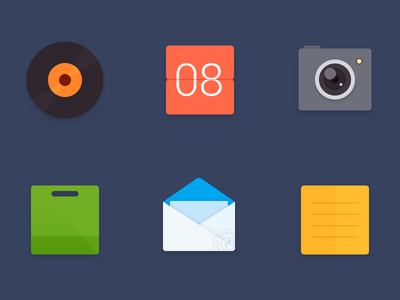 ICON X6 note mail store camera calendar music