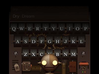Typewriting-26 mechanics theme robot steampunk keyboard typewriting