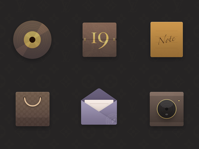 ICON X6-Retro icon theme calendar camera store mail note music