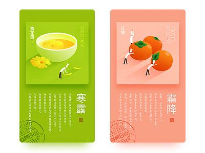 Solar term 17/18 autumn tomato flower cook illustration term solar